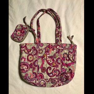 Vera Bradley Tote w/ coin purse
